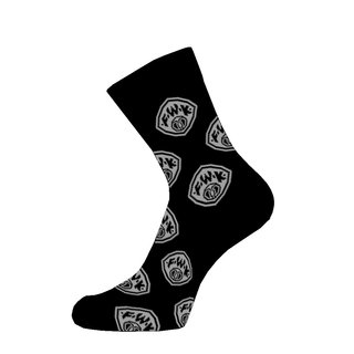 Businesssocken schwarz Logo